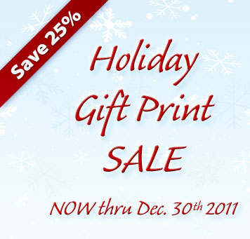 Save 25% - Holiday Gift Print SALE - NOW thru Dec. 30th 2011