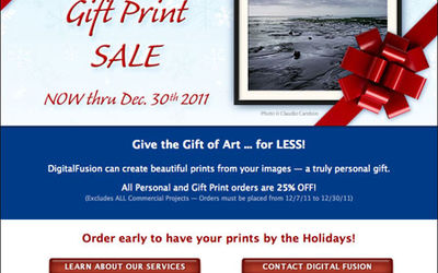 DF Post Holiday Gift Print Sale