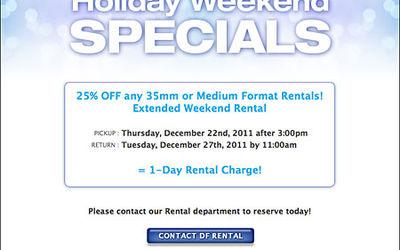 DF Rental Holiday Weekend Specials