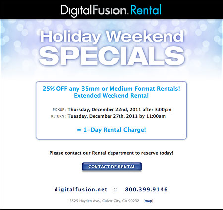 DF Rental Holiday Weekend Specials