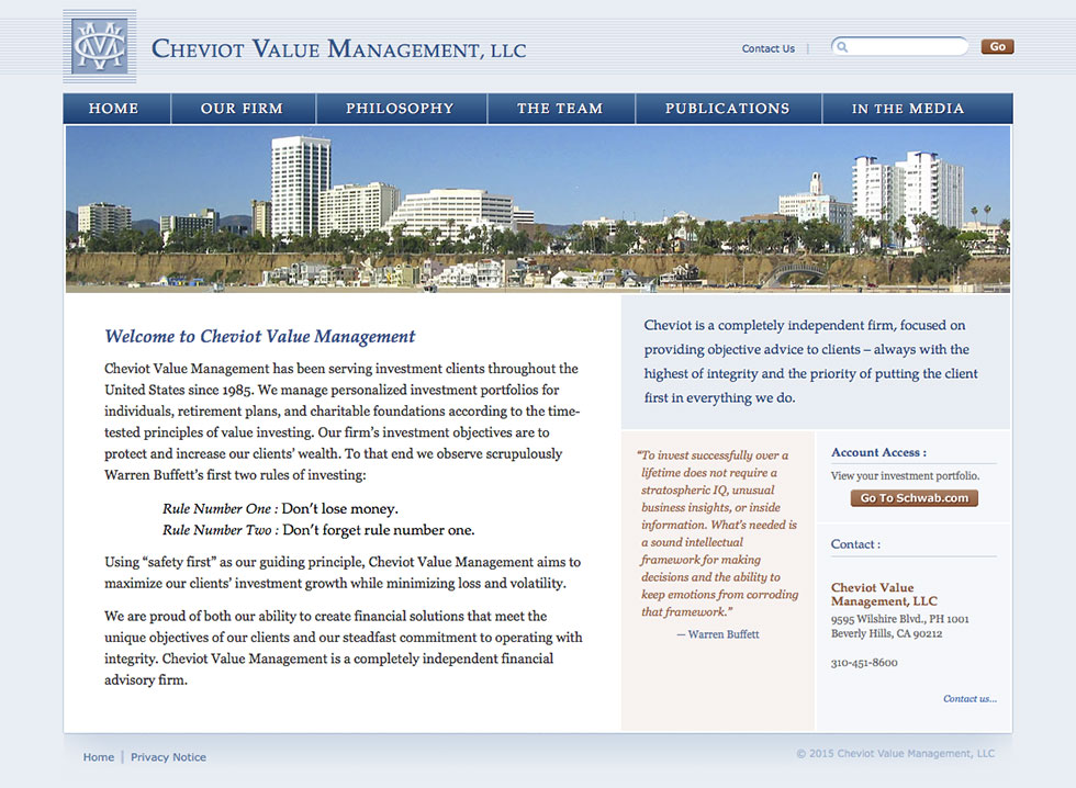 Cheviot Value Management