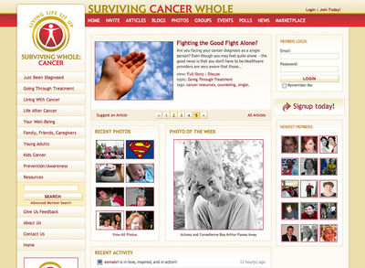 Surviving Cancer Whole<br /><a>( project retired )<span>Designed by DigitalFusion DESIGN — Built by Ottenhoff Consulting</span></a>