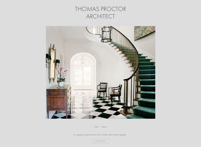 "Thomas Proctor Architect<br /><a target=""_blank"" href=""http://thomasproctorarchitect.com"">thomasproctorarchitect.com</a>"