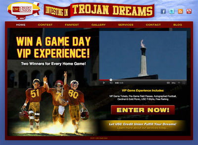 USC Credit Union : Trojan Dreams<br /><a>( retired: limited time campaign site )</a>