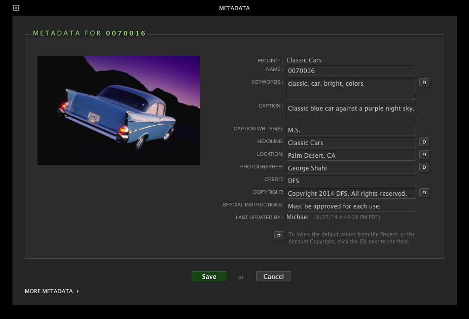 DF Studio Updates: August 2014 – Metadata Writing, Improved Metadata Management