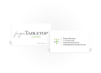 For Your Tabletop - Business Card