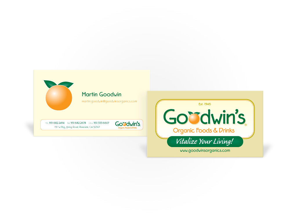 Goodwins Organics – Business Card